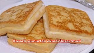 Kahvaltıya lezzeti harika ve yapımı aşırı kolay kaşarlı yumurtalı ekmek kızartması