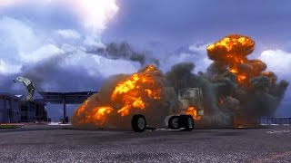 Explosion Simulation Ets 2 Fire Bursts Flashes In Euro Truck Simulator 2