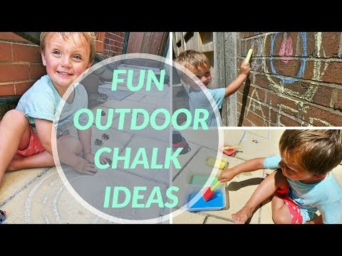 FUN OUTDOOR CHALK GAMES/ CHEAP SUMMER KIDS ACTIVITIES/ ACTIVITIES WITH CHALK/ TODDLER GARDEN GAMES