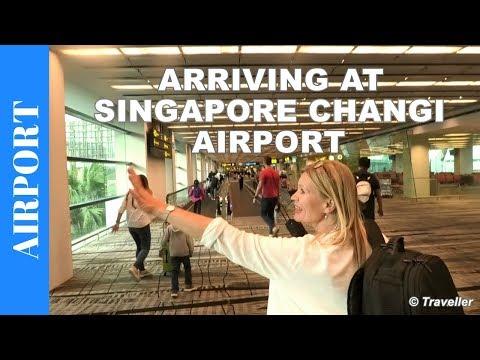 Arriving at Singapore Changi Airport - Singapore Airport Arrival procedure
