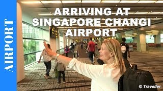 Arriving at Singapore Changi Airport - Singapore Airport Arrival procedure - Air Travel Video