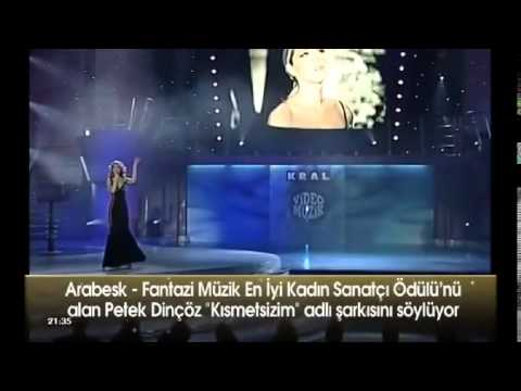 Petek Dincoz - Kismetsizim Kral TV  Awards Best Arabesque - Fantasy Woman Artist