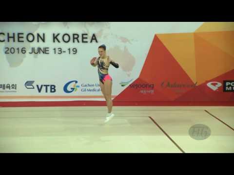MORENO Sara (ESP) - 2016 Aerobic Worlds, Incheon (KOR) - Qualifications Individual Women