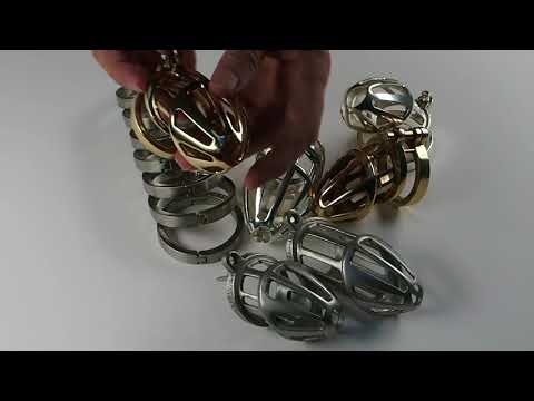 Gold and Silver plated Chastity Cages | BON4