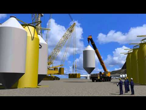 DNV-GL video of Stiesdal open-source floating wind turbine foundation