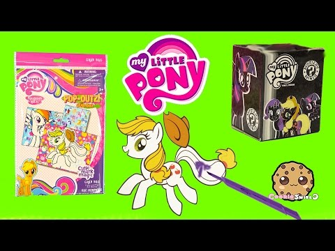 Color My Little Pony Pop-Outz Grab Bag With Stickers & Markers + Mystery Mini Blind Bag - Video