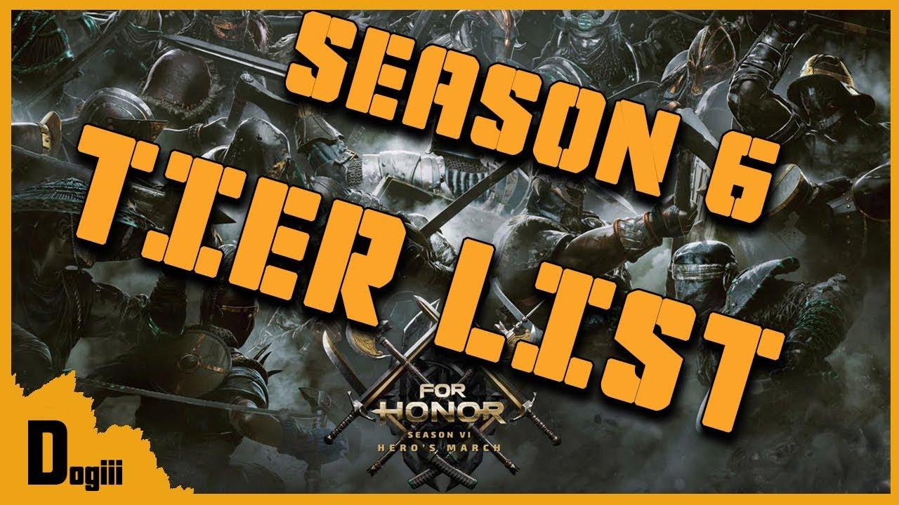 For honor season 6 tier list youtube - When is for honor season 6 ...