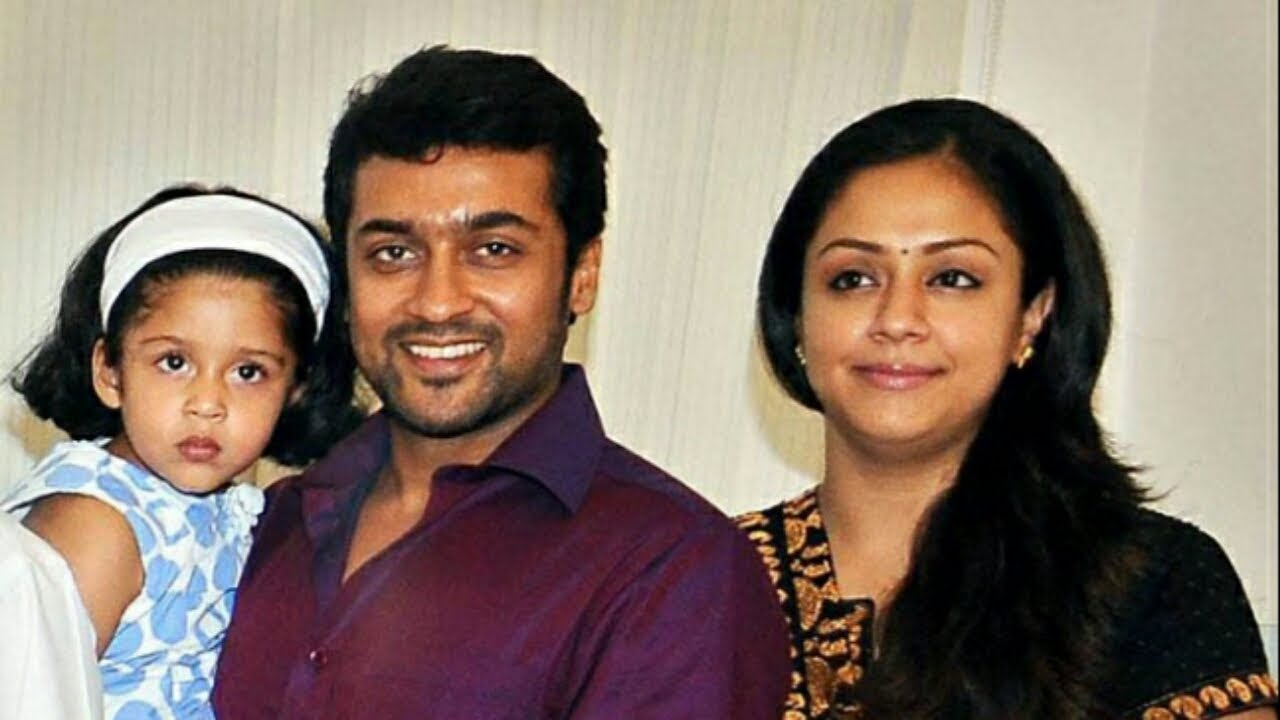 Actor Surya Family photos with wife jothika, with son, daughter, with  friends