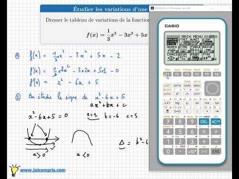 fonction polynôme degré 3 Dérivation Tableau de variations - f'(x) Première spé maths Terminale ...