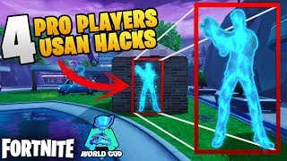 4 PRO PLAYERS UP TAKE USING HACKS ET TRICHERIE DANS LA COUPE DU MONDE FORTNITE