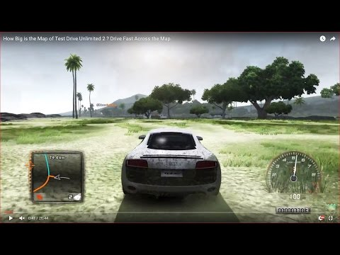 HOW BIG IS THE MAP in Test Drive Unlimited 2 ? Drive Across the Map Fast