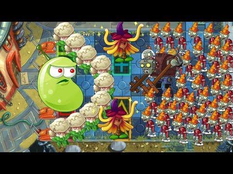 Caulipower, Witch Hazel and Laser Bean vs All Zombies Pvz 2