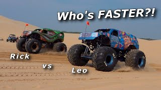 WE DRAG RACE MONSTER TRUCKS! Life goal FULFILLED!