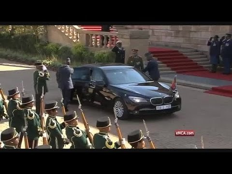 President Jacob Zuma arrives at Union Buildings