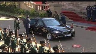 President Jacob Zuma arrives at Union Buildings