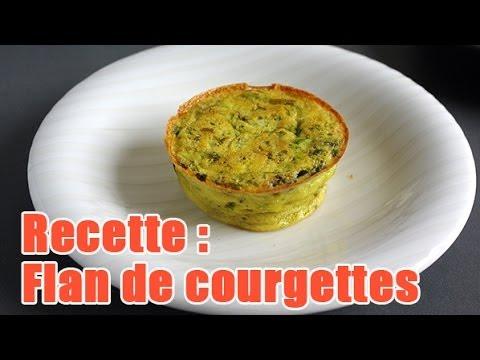 Faire Un Flan De Courgettes Au Coulis De Tomates Maison Youtube