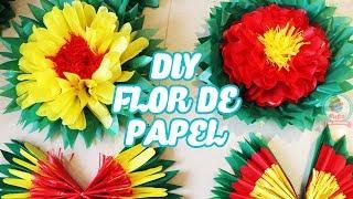 DIY: Flor de Papel 🌸 How to make paper flowers