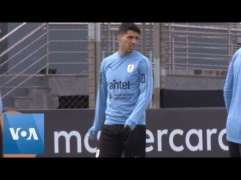 Luis Suarez And Edinson Cavani Train With Uruguay Ahead Of Copa America Japan Clash