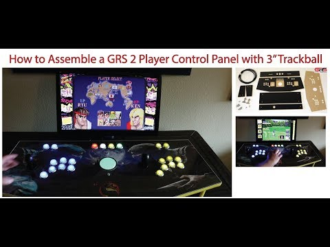 GRS 2 Player Arcade Control Panel with Trackball Assembly Video