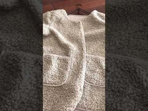 SaNDoN x『日本貴牌』材質好到尖叫 自留兩色大口袋QQ毛細緻這個季節每天都能穿排扣小外套 191012