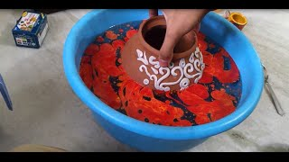 How to paint and Decorate a pot using M-Seal