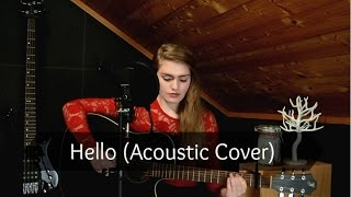 Video Adele - Hello (Acoustic Cover) download MP3, 3GP, MP4, WEBM, AVI, FLV Oktober 2017