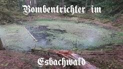 Bombentrichter im Esbachwald - ehemalige Munitionsanstalt Gehren