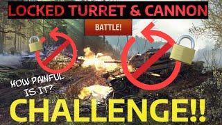 🔒Locked Turrets & Cannons 🚫 CHALLENGE!! (Probably The Most Painful) | WOT BLITZ