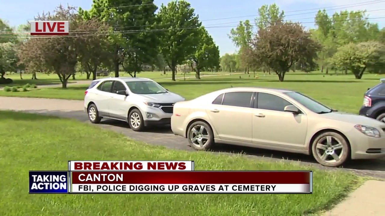 FBI, Detroit police dig for DNA samples at Canton cemetery for missing persons investigation