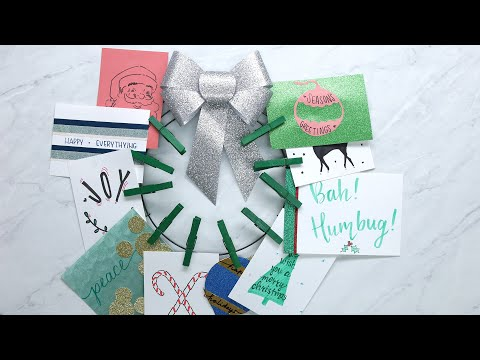 Traci James - Fun Ways to Display your Holiday Cards