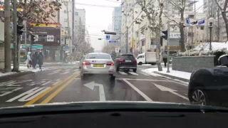 [LIVE 고고씽] ♥ 눈오는날 출근라이브  / 미남의운전교실