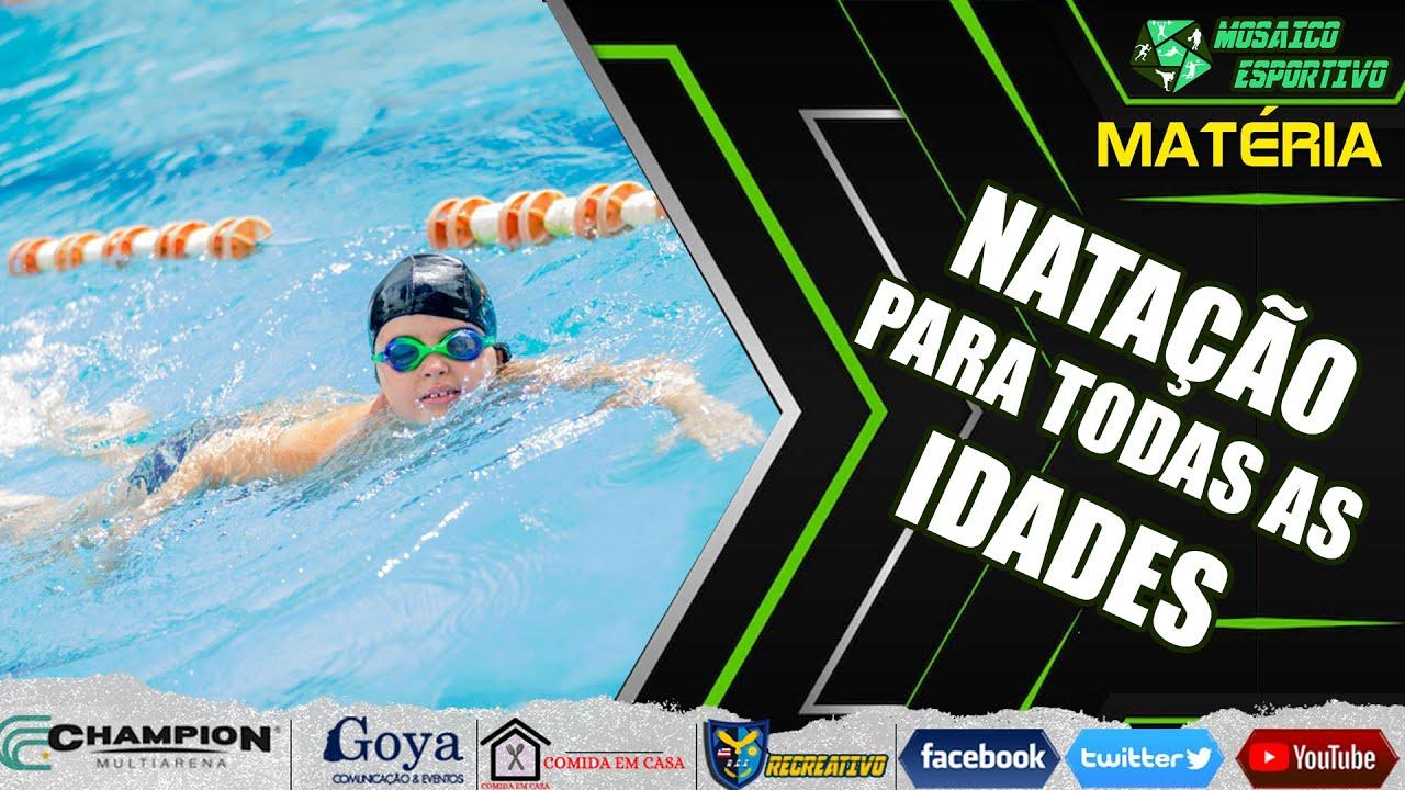 Esporte Aquático - Natação é recomendado para todas as idades