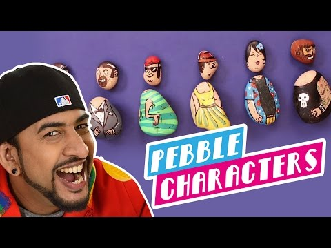 Mad Stuff With Rob - How To Make Pebble Characters   DIY Craft  