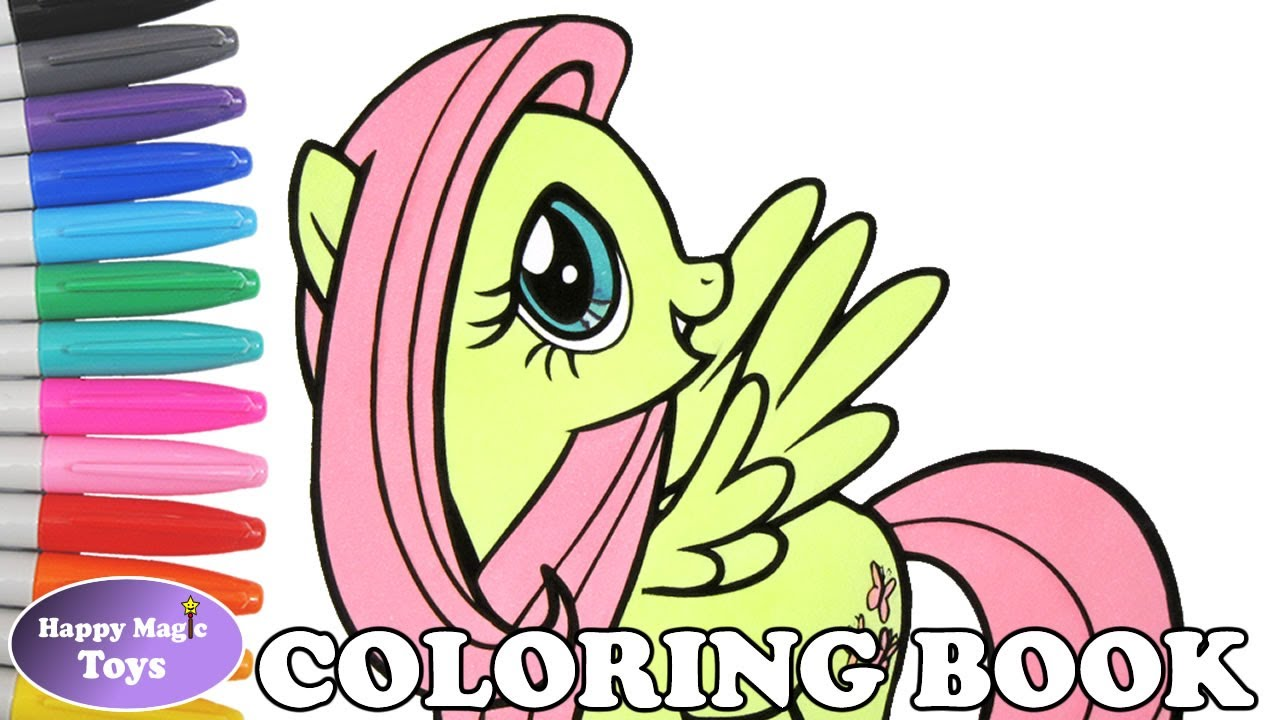 fluttershy coloring book page mlp my little pony fluttershy