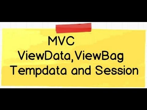 MVC Video :- Difference between viewdata,viewbag,tempdata and session.(MVC Interview questions)