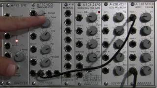 Doepfer A110 VCO Audio Demonstration 1 - Waveforms and Pulse Width