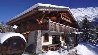 Drone Flight Around Beautiful Alpine Chalet Libellule