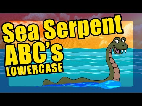 Alphabet Sea Serpent Parade - Lowercase Letters