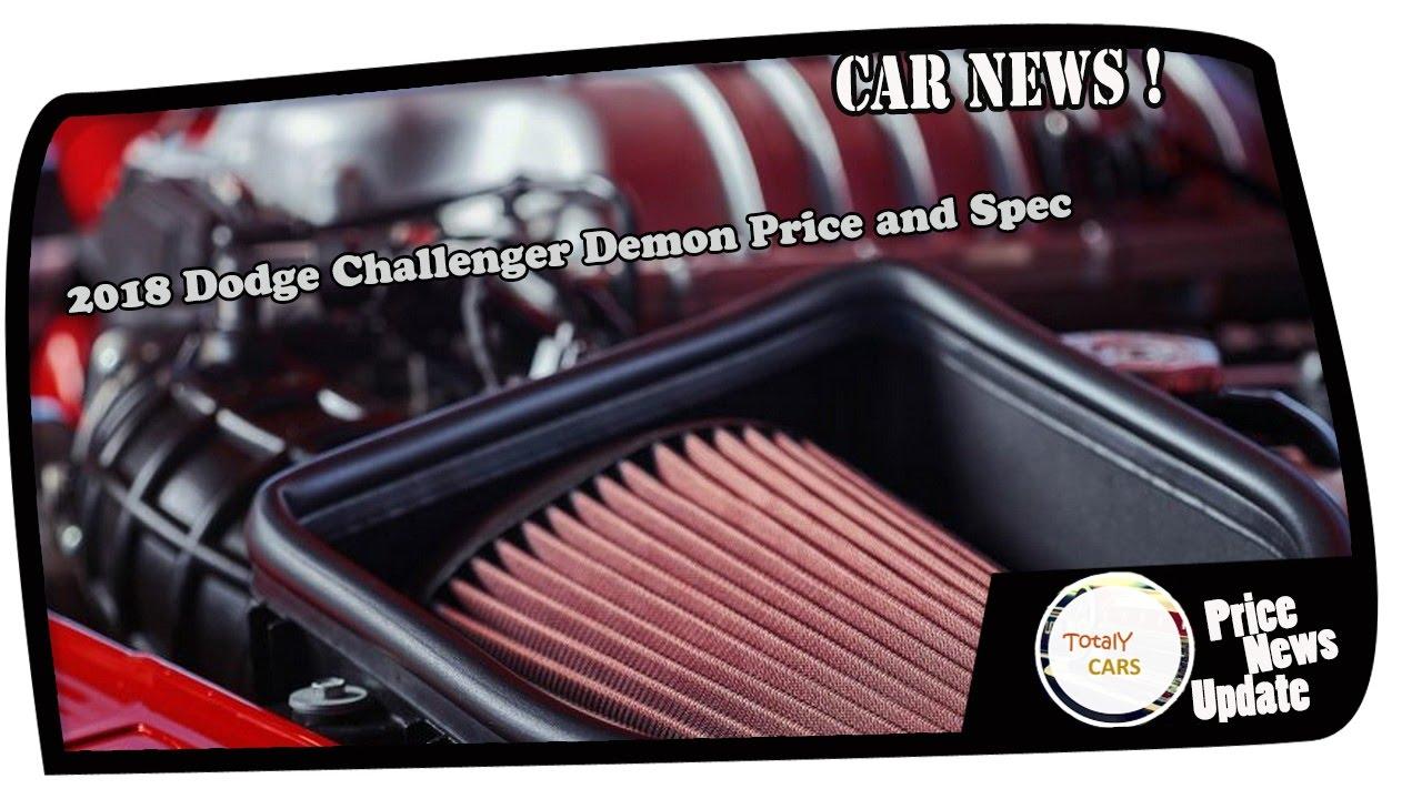 Dodge Challenger Malaysia Price >> Hot News 2018 Dodge Challenger Demon Price and Spec | Doovi