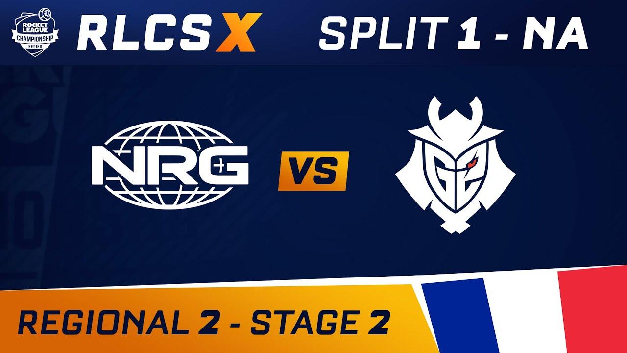 NRG vs G2 - RLCS X - NA Regional 2 - Stage 2