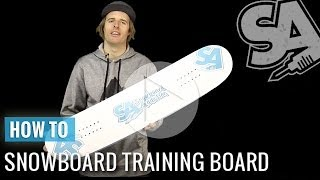 Learn how to Snowboard on a Trampoline - Training Snowboard - Snowboarding Tricks