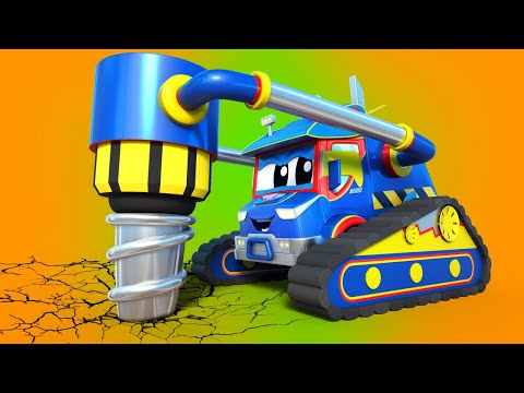 การ์ตูนรถบรรทุกสำหรับเด็ก สว่านยักษ์ ช่วยรถเครนรื้อถอน จากปัญหาที่ยากลำบาก ซุปเปอร์ ทรัค!