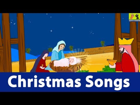 Nursery Rhymes | Away In Manger | Animated Christmas Carols With Lyrics From ZippyToons