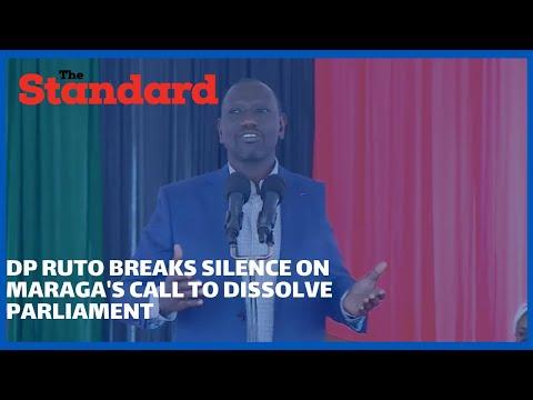 DP Ruto breaks silence on Maraga's advisory to dissolve parliament