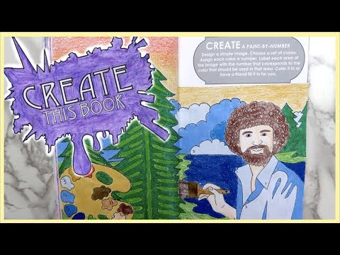 Create This Book Episode 7! (Moriah Elizabeth) Bob Ross, Foot Painting and more!
