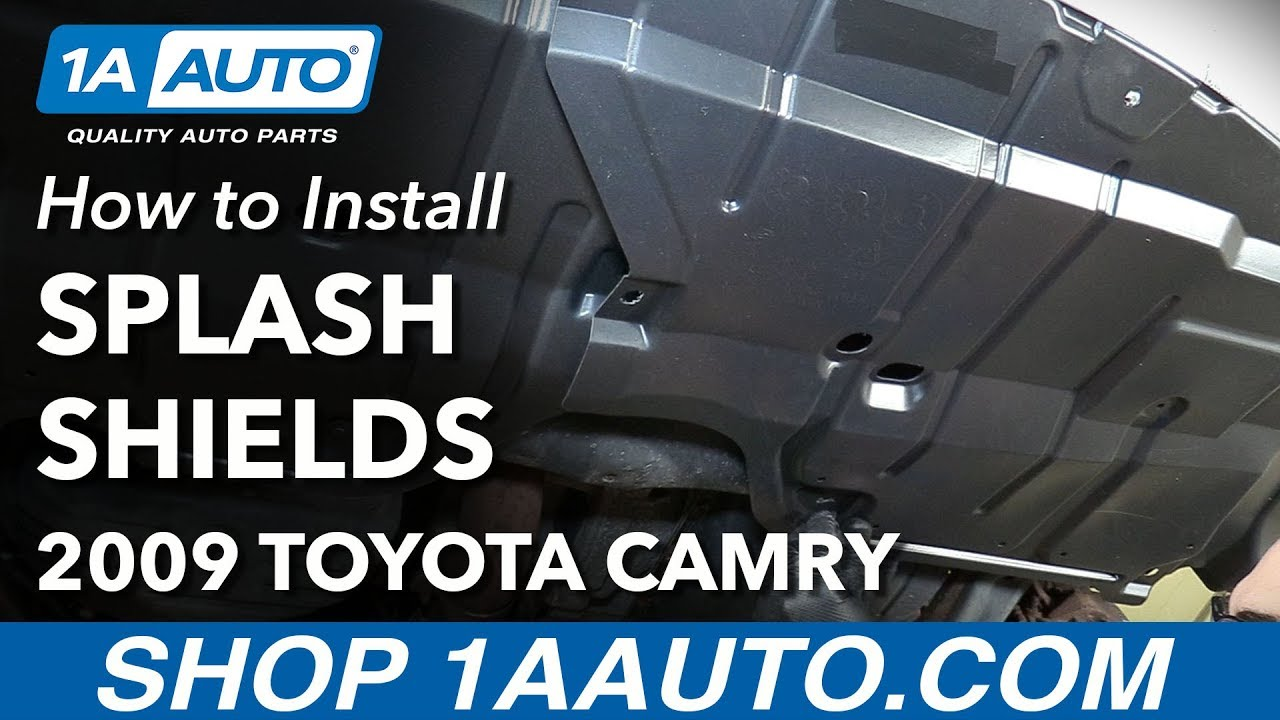 how to install replace front lower engine splash shields 2007 10 toyota camry [ 1280 x 720 Pixel ]