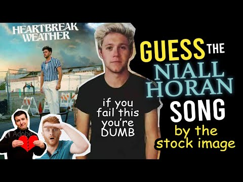 🌦️ GUESS the Niall Horan's HEARTBREAK WEATHER SONG by the stock image ☀️