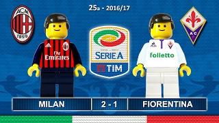 MILAN FIORENTINA 2-1 • Serie A 2016/17 ( Film Lego Calcio ) Goal e Highlights 19/02/2017
