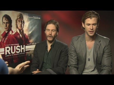 Chris Hemsworth and Daniel Bruhl battle it out in Rush interview