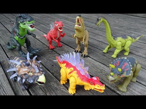 Dinosaur Walking Tyrannosaurus Rex Triceratops Spinosaurus - Dinosaurs Toys Collection For kids